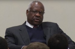 Clarence Thomas, via Harvard Law School screengrab