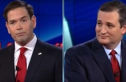 cruz and rubio, via CNN screengrab