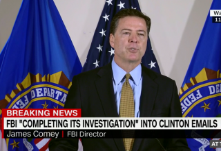 Image of James Comey via CNN