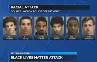 Screengrab via Cleveland 19, images via Akron Police Dept