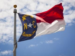 Image of North Carolina flag via Shutterstock