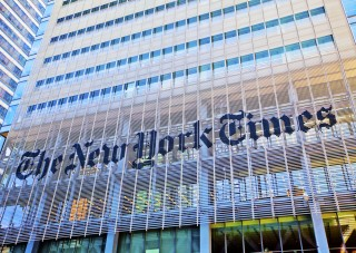 Image of NY Times building via Stuart Monk/Shutterstock