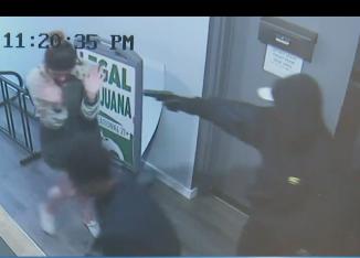 Seattle Pot Shop Robbery via screengrab
