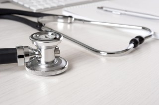 Image of stethoscope via Shutterstock