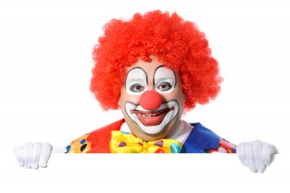 Image of clown via Shutterstock