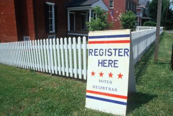 voter registration via Joseph Sohm/Shutterstock