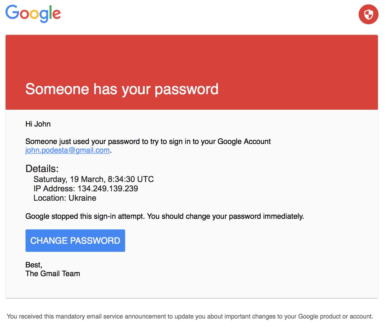 John Podesta phishing email
