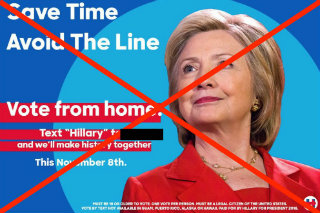 fake-hillary-clinton-text-to-vote-ad