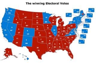 2016 Electoral College map (Shutterstock)
