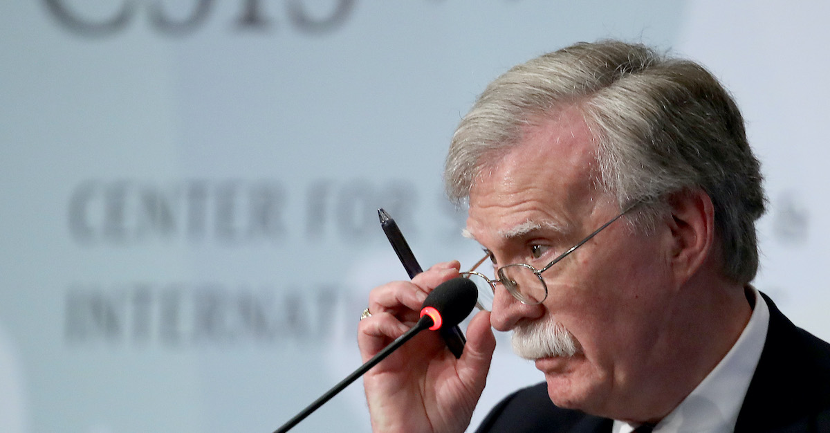 John Bolton says he hopes his forthcoming book isn't 'suppressed'