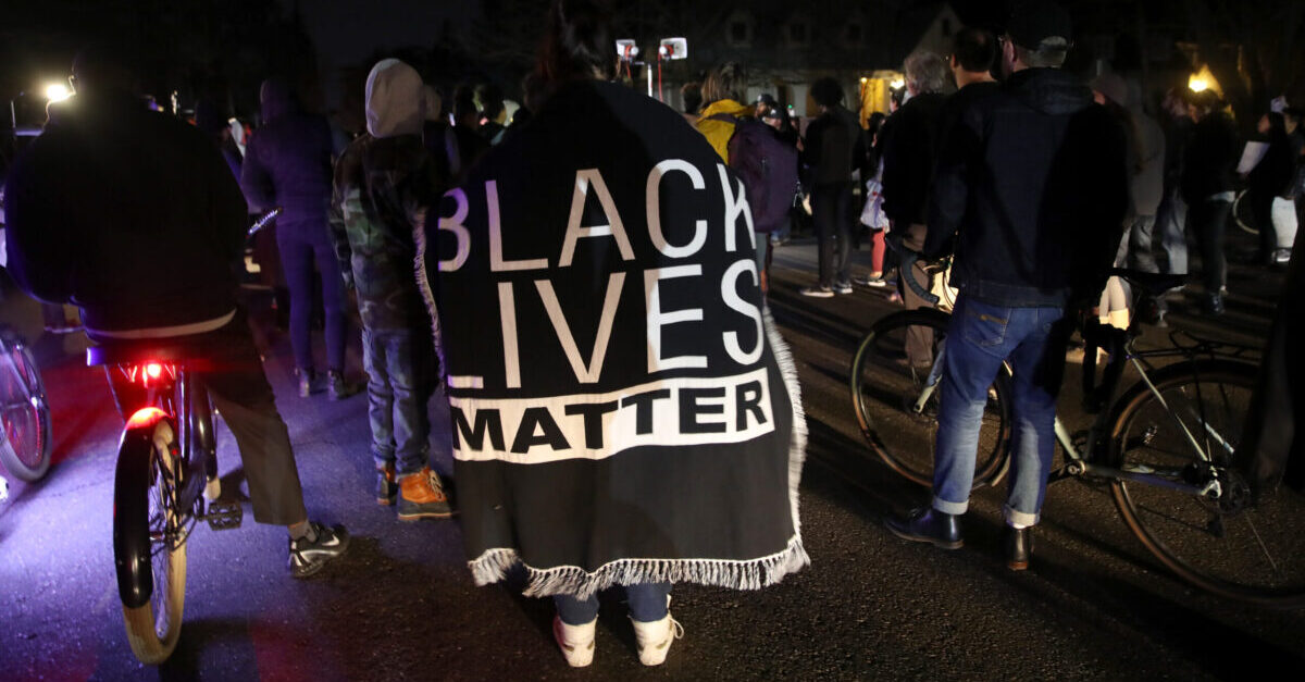 SACRAMENTO, CALIFORNIA - MARCH 04: Black Lives Matter protesters march through the streets as they demonstrate the decision by Sacramento District Attorney to not charge the Sacramento police officers who shot and killed Stephon Clark last year on March 04, 2019 in Sacramento, California. Dozens of Black Lives Matter protesters demonstrated against the decision by Sacramento District Attorney Anne Marie Schubert to not charge two police officers who shot and killed Stephon Clark, an unarmed black man.