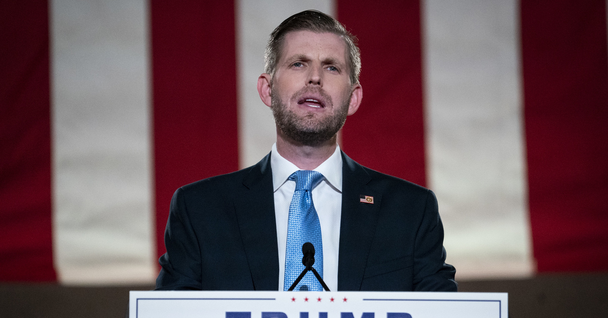 'Hoping Daddy Can Still Pardon Him': Eric Trump Excoriated for Saying He'll Comply with Subpoena After the Election