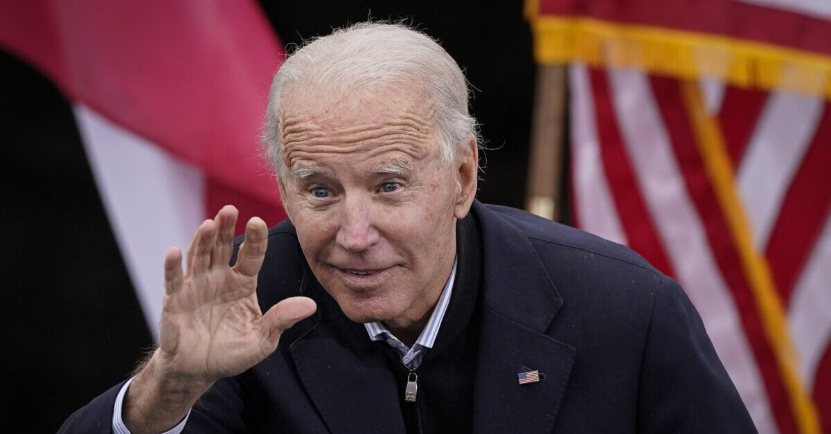 ATLANTA, GA - DECEMBER 15: U.S. President-elect Joe Biden gestures to the crowd as he delivers remarks during a drive-in rally for U.S. Senate candidates Jon Ossoff and Rev. Raphael Warnock at Pullman Yard on December 15, 2020 in Atlanta, Georgia. Biden's stop in Georgia comes less than a month before the January 5 runoff election for Ossoff and Warnock as they try to unseat Republican incumbents Sen. David Perdue and Sen. Kelly Loeffler.