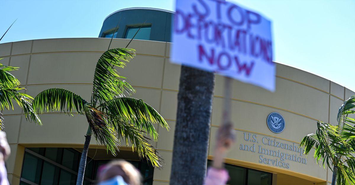 Deportation protest