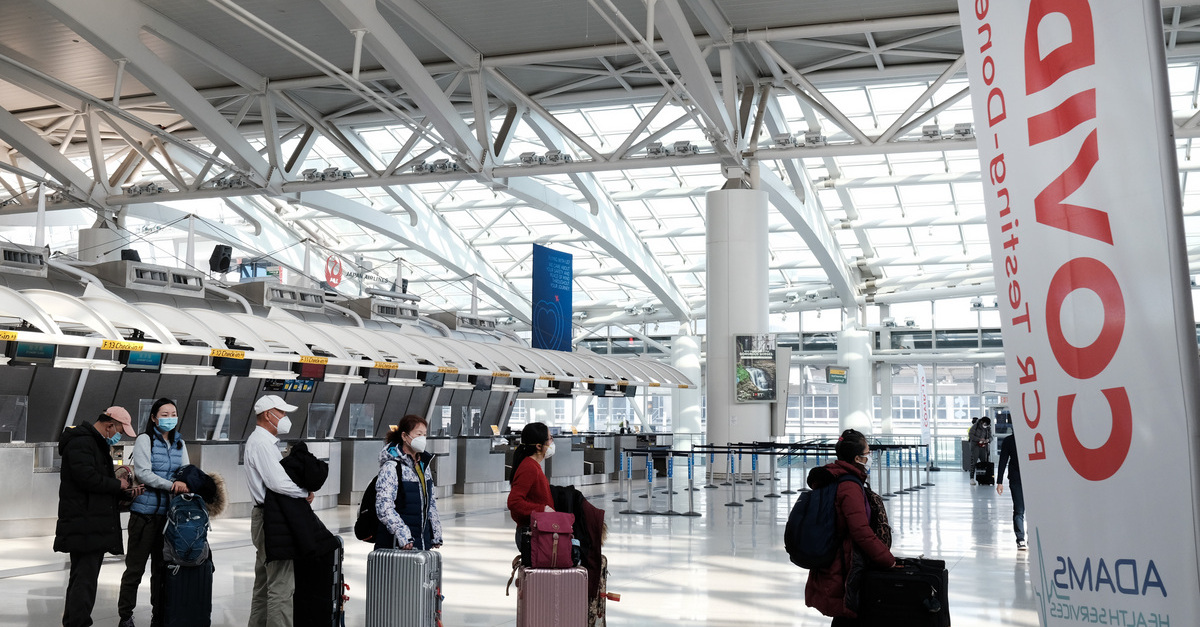 Travelers in JFK Airport