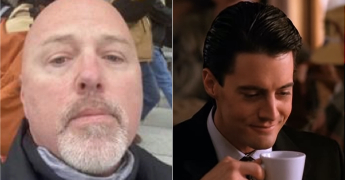 Coffee-loving accused Capitol rioter 'Steamy Vic' and fictitious FBI agent Dale Cooper on Twin Peaks