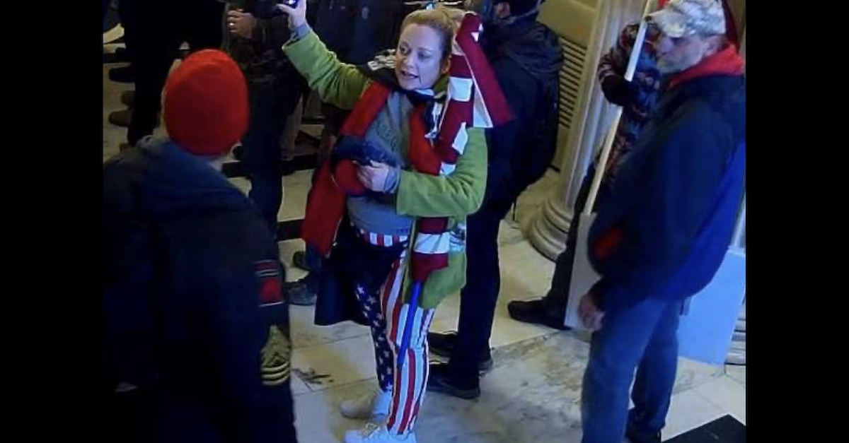 Woman identified as Traci Sunstrum pictured inside the Capitol