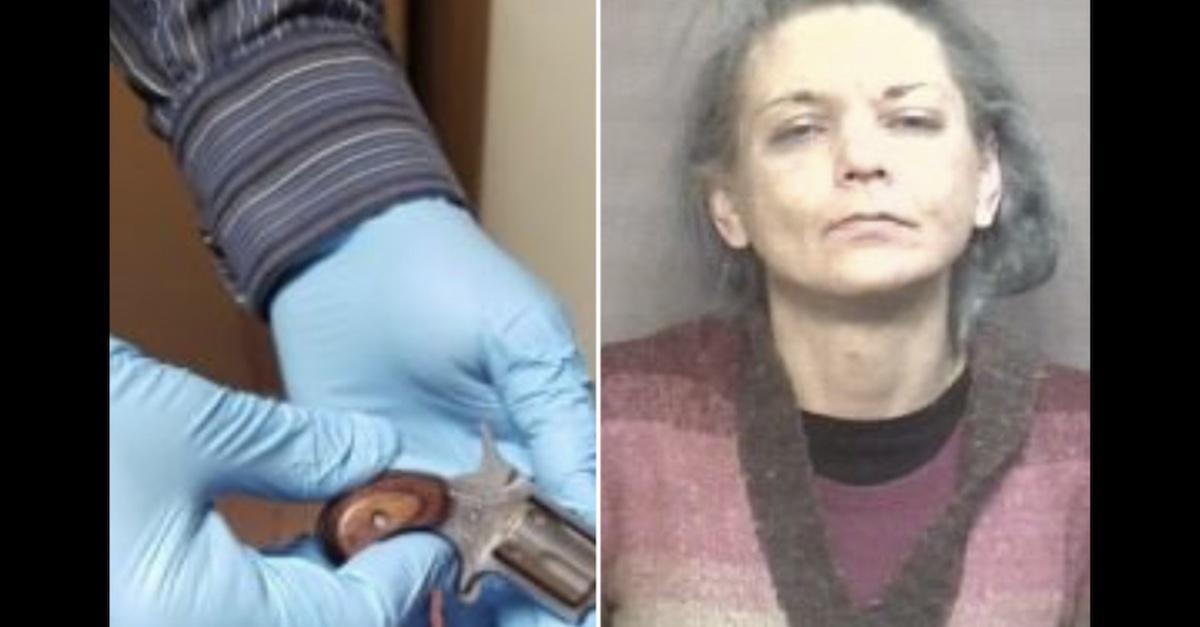 Amy Natasha Wilhite and the .22 revolver she smuggled into Boone County Correctional Facility