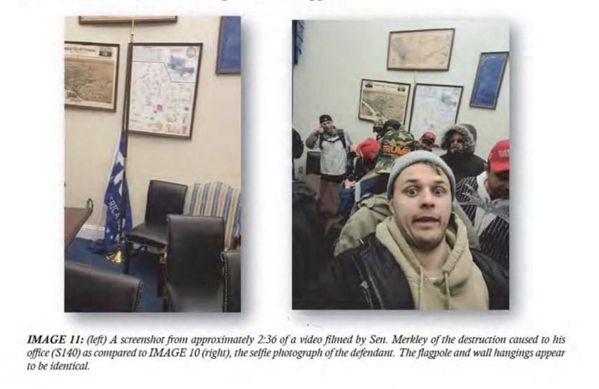 Chwiesiuk took these photos inside Sen. Merkley's office, prosecutors say