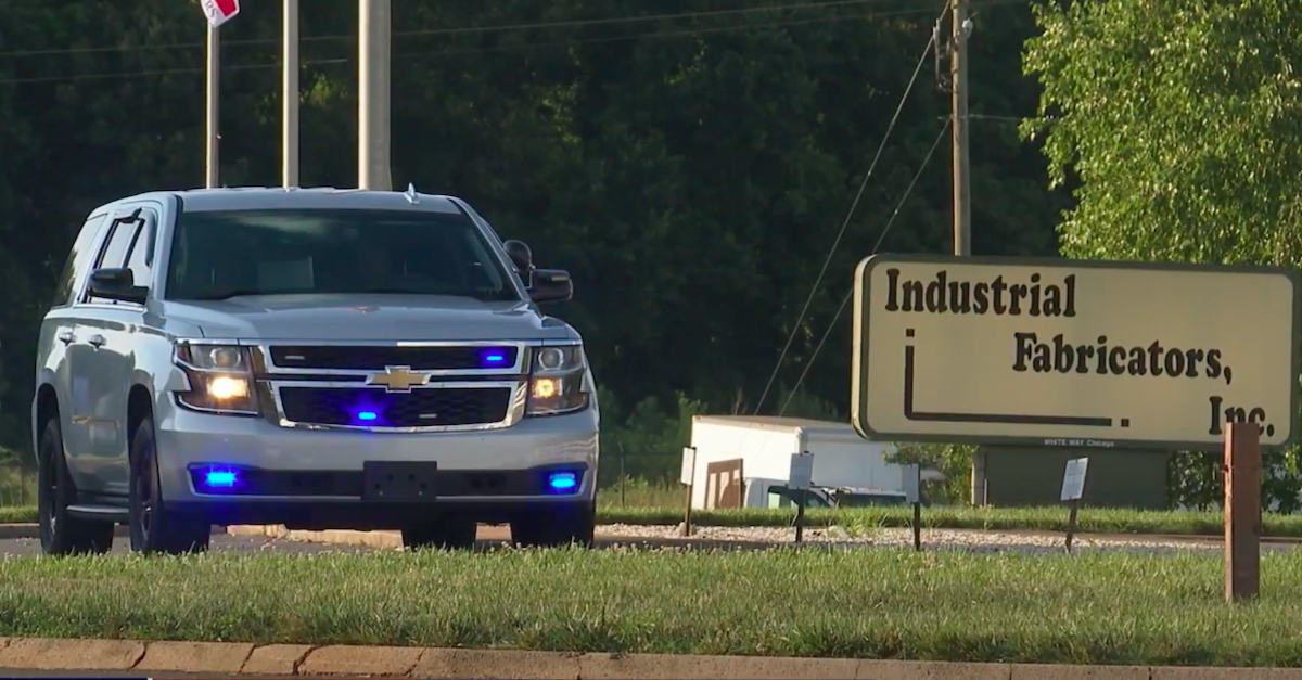 Police investigating a toddler found dead in a car outside of Industrial Fabricators, Inc