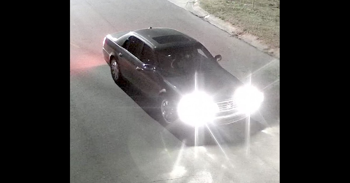 The Goldsboro Police Department is attempting to identify this vehicle in connection with the continuing investigation into the deceased person found on Bright Street on the morning of May 24, 2021.