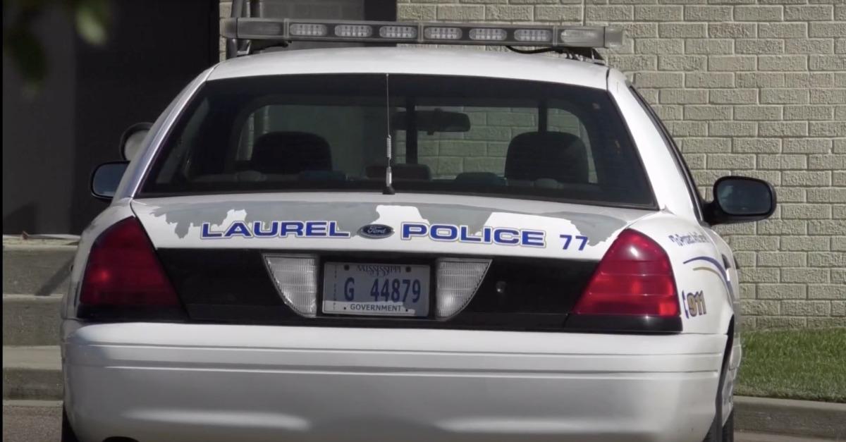 A police car in Laurel Mississippi