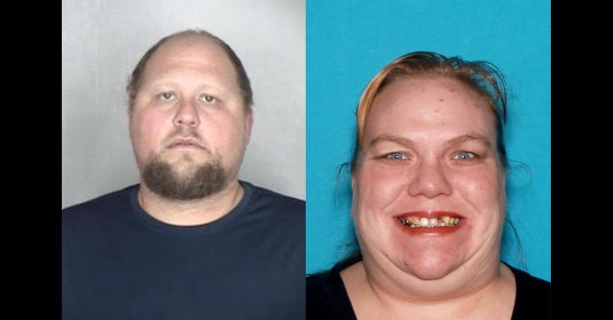 Mugshot of Dustin Troy Kimball, and image of Jennifer Moore