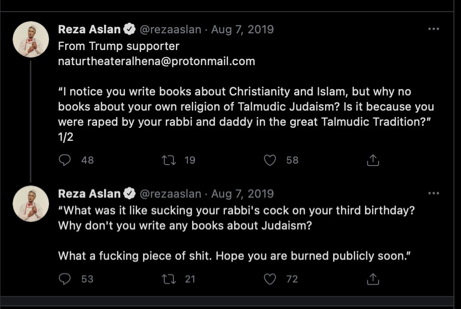 Reza Aslan tweets