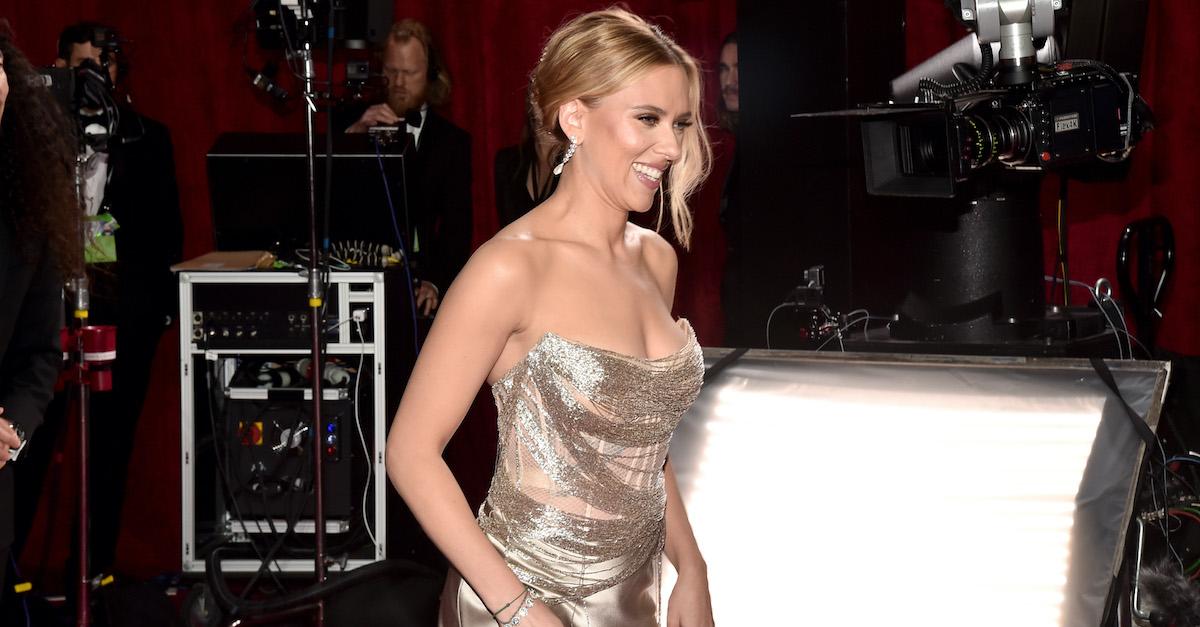 Scarlett Johansson attends the 92nd Annual Academy Awards