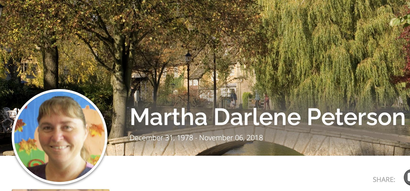 Image of Martha Darlene Peterson from obituary