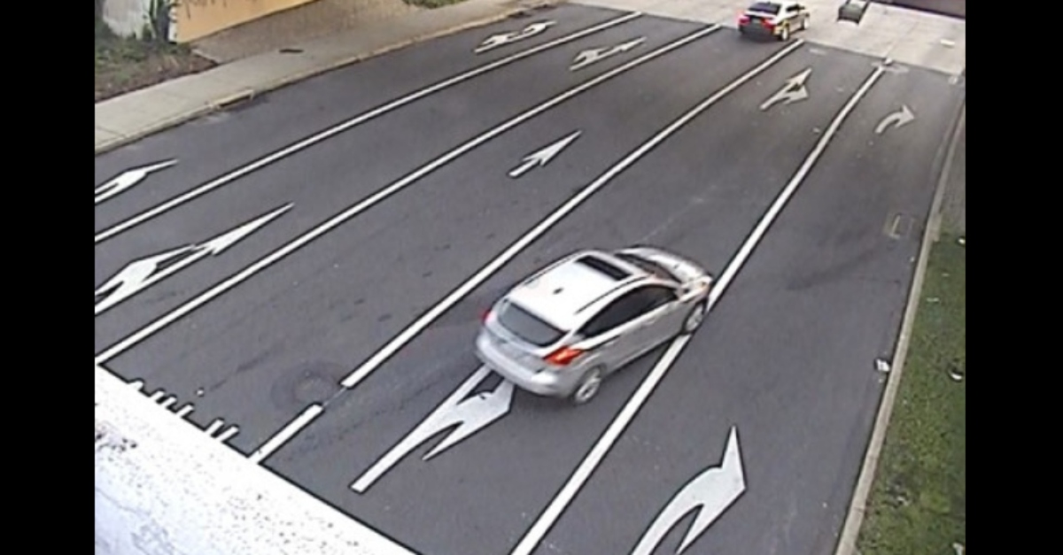 Casey Johnston's car in an image released by police on July 12.