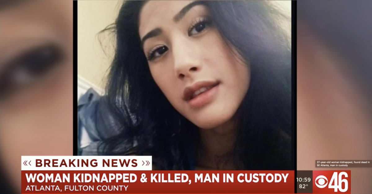 Mariam Abdulrab appears in a photo during local news coverage of her kidnapping and death