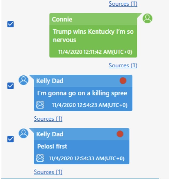 Kelly Meggs messages about Pelosi