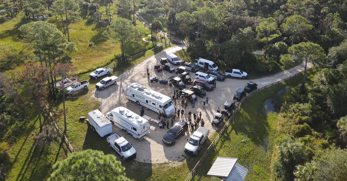 Drone footage of search for Brian Laundrie