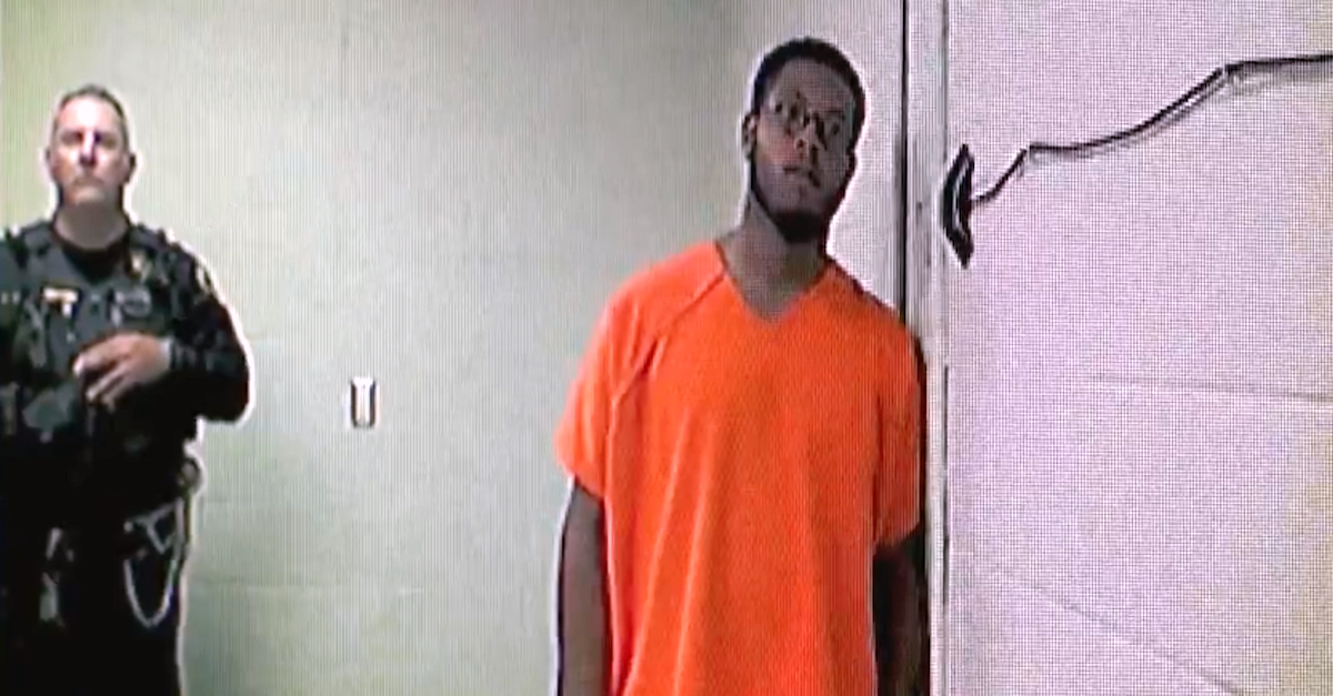 Jewell Jones appears in a screengrab from a WJBK-TV video of a court appearance.