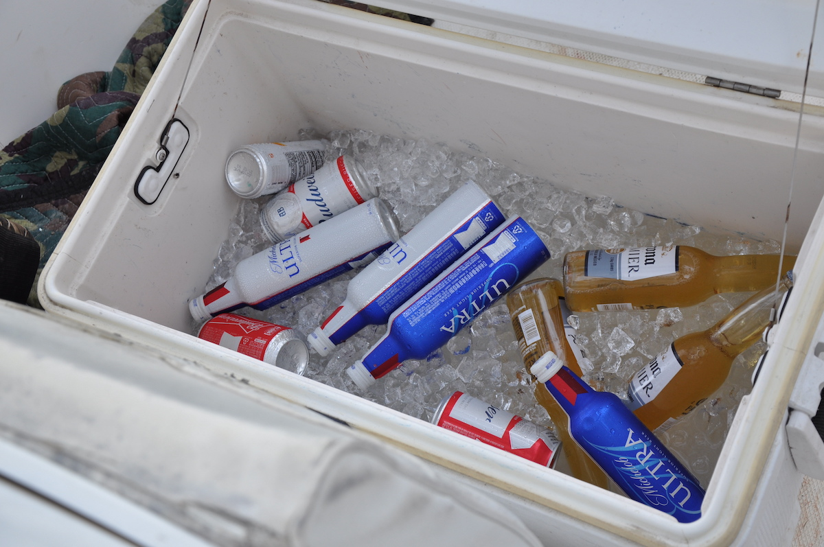Investigators found copious quantities of beer and alcohol — in both open and unopened containers — after the crash of a boat owned by Alex Murdaugh. (Image obtained from the South Carolina Attorney General's Office pursuant to a Freedom of Information Act request by Law&Crime.)