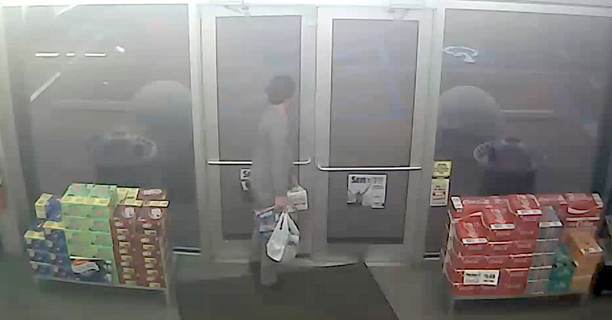 Paul Murdaugh was captured by a security camera leaving a Parker's convenience store carrying several cases of alcohol prior to the boat crash which killed Mallory Beach.  (Image obtained from the South Carolina Attorney General's Office pursuant to a Freedom of Information Act request by Law&Crime.)