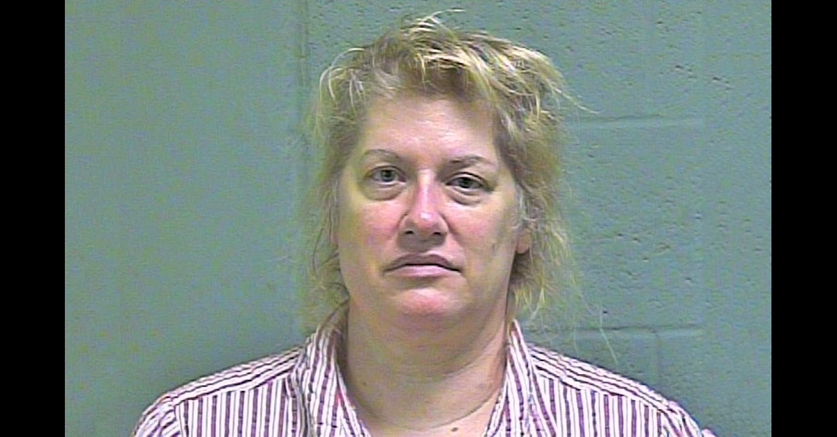 Regan Nichols appears in a mugshot taken by the Oklahoma County Sheriff's Office.