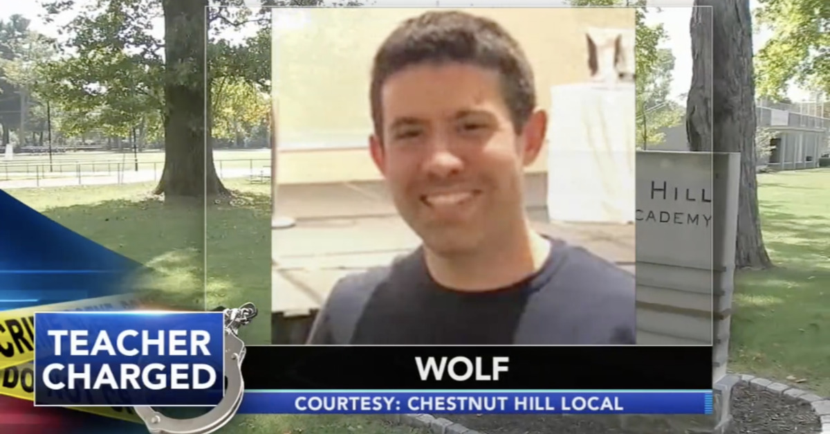 An image of defendant Andrew Wolf during a local news broadcast