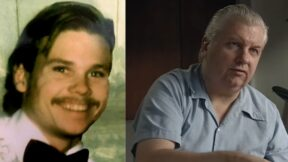 Picture of Francis Wayne Alexander, and screenshot of John Wayne Gacy