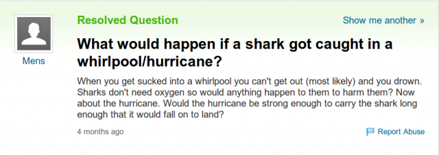 Sharknado Question