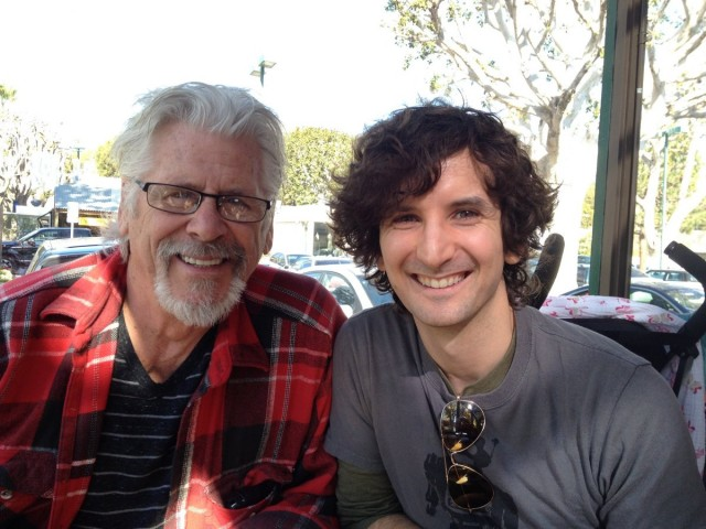 Actor Barry Bostwick (left) with Gabe Diani (right.) Also hot cocoa (not pictured.)