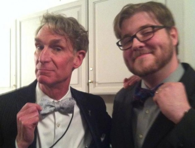 Our Friend Bill Nye with our Senior Editor Glen Ticke