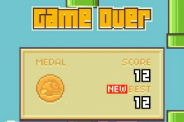 Unimpressive Flappy Bird Score