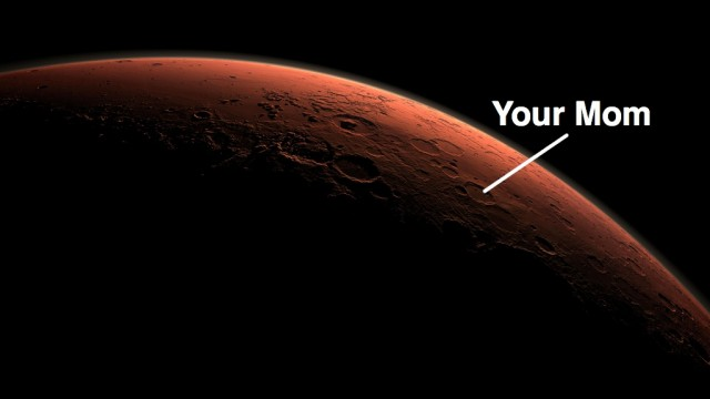 Your Mom Martian Crater