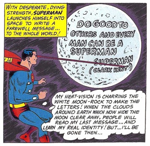 Superman Moon Dying Message