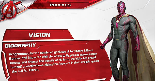 Age of Ultron Vision Profile