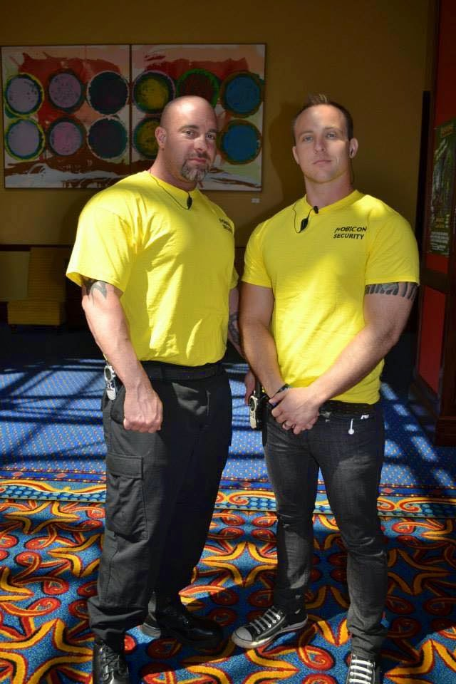 Derek Barefoot (left) with one of his volunteers. Photo: Cos Couture