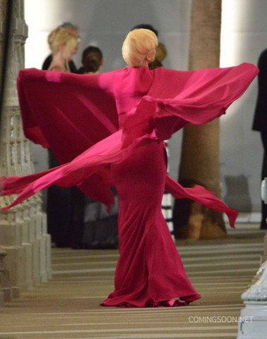 """51828250 Singer Lady Gaga films a scene for """"American Horror Story: Hotel"""" at LACMA on August 19, 2015 in Los Angeles, California. FameFlynet, Inc - Beverly Hills, CA, USA - +1 (818) 307-4813"""