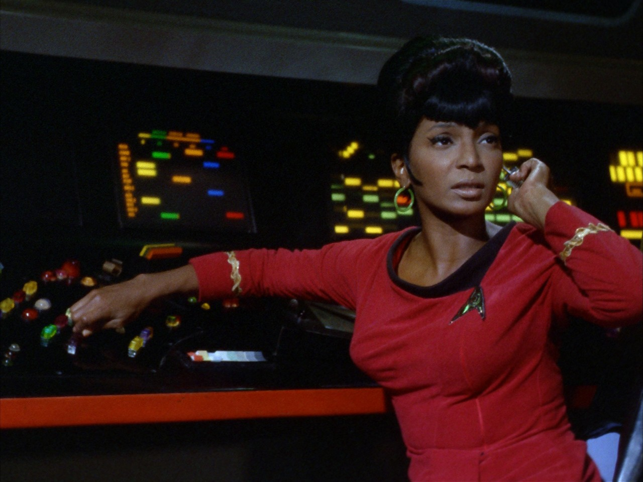 Lt. Uhura in Star Trek original series.